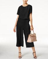 Alfani Petite Popover Culotte Jumpsuit, Created for Macy's