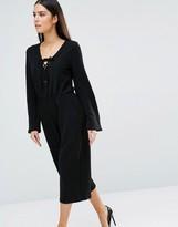 AX Paris Lace Up Culotte Jumpsuit
