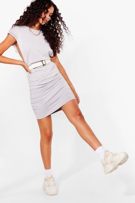 Nasty Gal Womens Run for It Two-Tone Chunky Sneakers - Beige