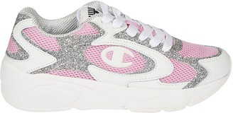 Chiara Ferragni Glittery Mesh Sneakers