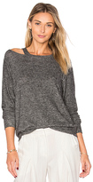LnA Bolero Cut Out Sweater in Grey