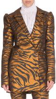 Kenzo Metallic Tiger Stripe Jacket, Black/Gold