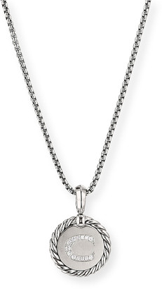 David Yurman Collectible Diamond Initial C Necklace