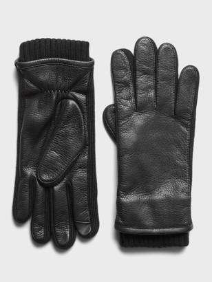 Banana Republic Leather & Merino-Blend Gloves