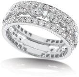 KC Designs 14K Diamond Pave Stacked Ring, Size 6.75