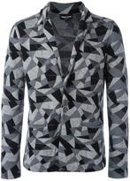Emporio Armani geometric patterned blazer