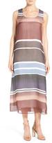Lafayette 148 New York 'Palmer' Stripe Silk Midi Dress