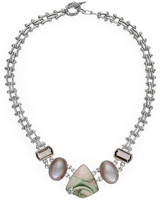 Stephen Dweck One Of A Kind Silver Gemstone Necklace