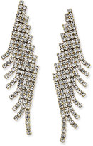 Charter Club Gold-Tone Angled Pavé Fringe Drop Earrings, Only at Macy's