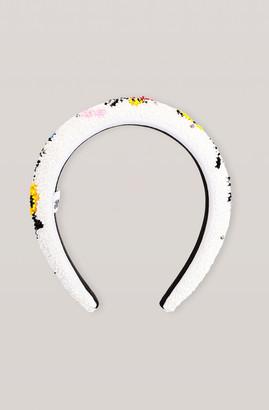 Ganni Padded Beaded Headband