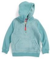 Toddler Girl's Mini Boden Teddy Quarter Zip Hoodie
