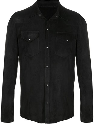 Salvatore Santoro Leather Shirt-Jacket