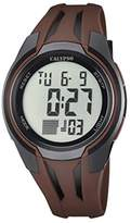 Calypso Unisex Digital Watch with LCD Dial Digital Display and Brown Plastic Strap K5703/5
