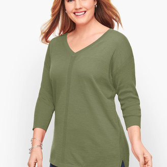 Talbots Cotton V-Neck Sweater
