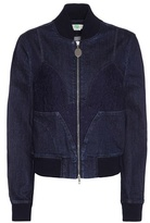 Stella McCartney Lace-trimmed Denim Bomber Jacket