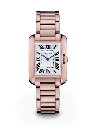 Cartier Tank Anglaise Small 18K Pink Gold Bracelet Watch