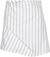 J.W.Anderson Striped cotton-piqué skirt