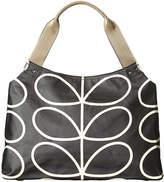Orla Kiely Linear Stem Classic Zip Shoulder Bag - Liquorice