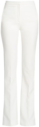 Alexander McQueen Crepe Flare Trousers