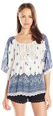 Angie Women's Lace Trim Top