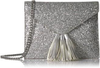 The Fix Amazon Brand Izzi Glitter Envelope Clutch with Chain Crossbody Strap