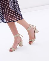 Spurr Aria Lace-Up Block Heels