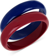 INC International Concepts IRIS X 2-Pc. Set Colorblock Acrylic Bangle Bracelets, Only at Macy's