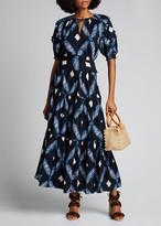 Ulla Johnson Eiko Tiered Printed Maxi Skirt