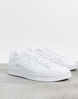 Converse Pro Leather trainers in white