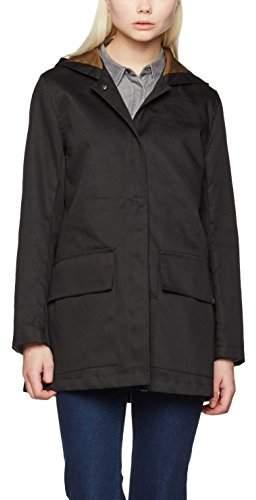 Gloverall Women's Parka Coat, (Black), (Size:Medium)