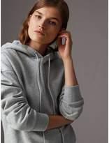 Burberry Embroidered Hood Fleece-back Jersey Sweatshirt