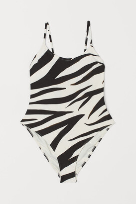 H&M Swimsuit with Padded Cups - White