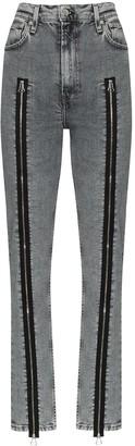 Helmut Lang Zip-Detailed Skinny Jeans
