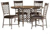 Hillsdale Furniture Brescello 5 Piece Round Dining Set