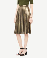 Ann Taylor Petite Metallic Pleated Skirt