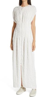 The Row Tamy Long Textured Cloque Dress