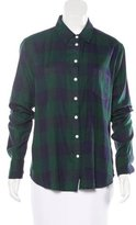 Band Of Outsiders Plaid Long Sleeve Top