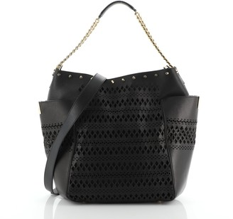 Jimmy Choo Anna Tote Laser Cut Leather
