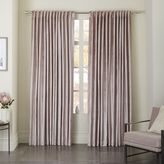 west elm Cotton Luster Velvet Curtain - Dusty Blush