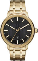 Armani Exchange Men's Maddox Gold-Tone Stainless Steel Bracelet Watch 46mm