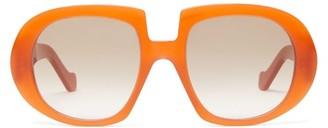 Loewe Anagram Oversized Acetate Sunglasses - Orange