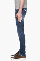 McQ by Alexander McQueen Washed indigo distressed skinny jeans