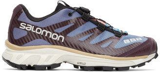 Salomon Blue and Purple XT-4 Advanced Sneakers