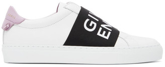 Givenchy White and Purple Elastic Urban Knots Sneakers