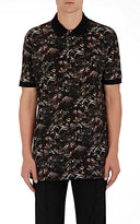Givenchy Men's Monkey-Print Cotton Polo Shirt-BLACK