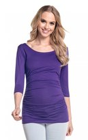 Happy Mama Boutique Happy Mama. Women's Maternity Jersey Stretch Top T-shirt Tunic 3/4 Sleeves. 338p