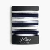 J.Crew Striped elastic hair tie pack