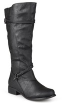 Brinley Co. Women's Extra Wide Calf Knee High Faux Leather Riding Boots