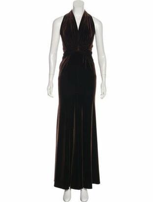 Marc Bouwer Velvet Draped Gown