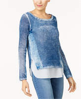 INC International Concepts Cotton Layered-Look Sweater, Created for Macy's